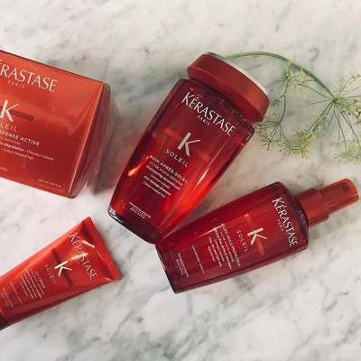 The best protection for your hair this summer  #Kérastase #sun #range  Available in minis too