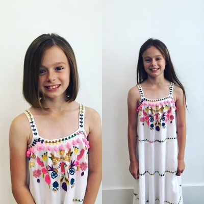 Mia was so brave having 11 inches cut off all for @littleprincesstrustcharity @michelle_baker_art_  #bob